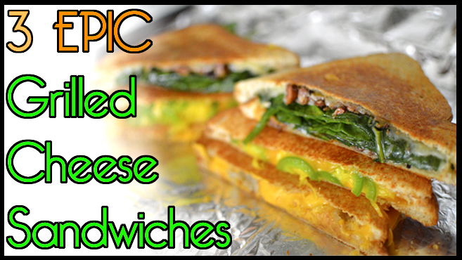 3 Different Grilled Cheese Sandwiches - Mango Jalapeno, Tater Tots, Spinach Tapenade Rich Bitch Cooking Blog
