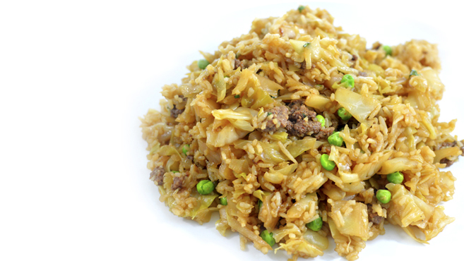 Ground Beef Cabbage Fried Rice (leftovers) - Gluten Free Rich Bitch Cooking Blog