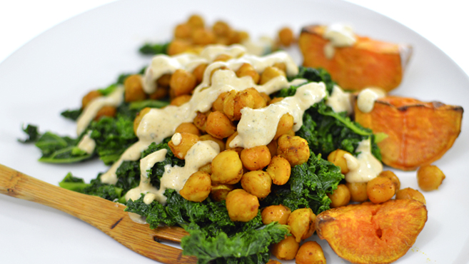 Best Kale Sweet Potato Chickpea MAKE THIS! Rich Bitch Cooking Blog