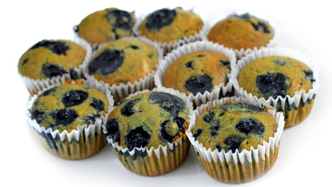 Vegan Brown Sugar & Blueberry Muffins - Moist & Fluffy - RICH BITCH COOKING BLOG