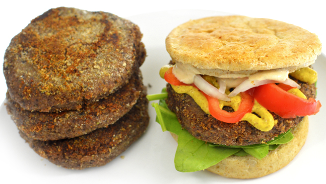 Cheap Black Bean Veggie Burger - Vegan - Rich Bitch Cooking Blog