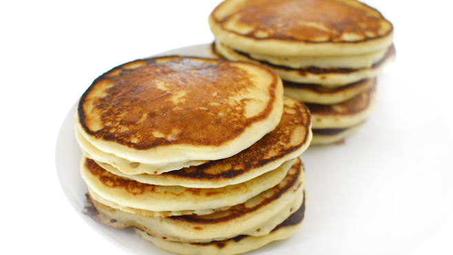 Fluffy Pancake Recipe - Eggless - How To Freeze - Rich Bitch Cooking Blog