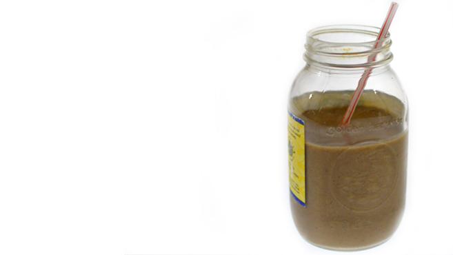 Thick Chocolate Almond Butter Smoothie - Vegan Milkshake Rich Bitch Cooking Blog