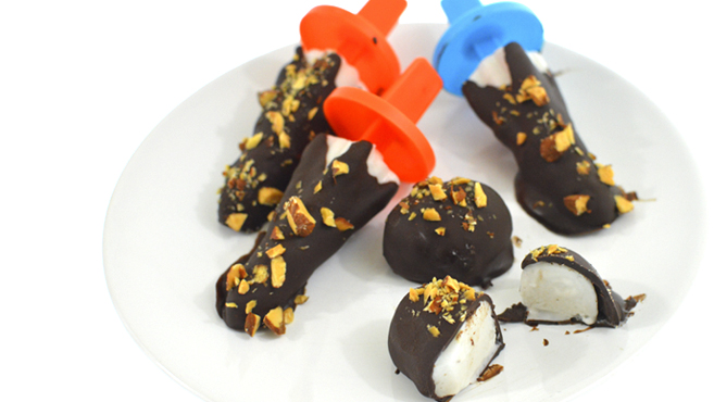 Vegan Coconut Popsicles - Dipped in Chocolate + Salted Almonds  Rich Bitch Cooking Blog