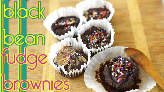 Black Bean Fudge Brownies - Vegan - Gluten Free - Low Fat Rich Bitch Cooking Blog
