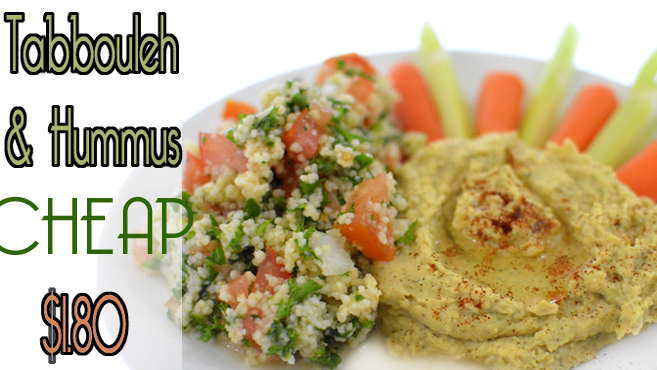 Easy Hummus & Tabbouleh Recipe - Vegan Rich Bitch Cooking Blog
