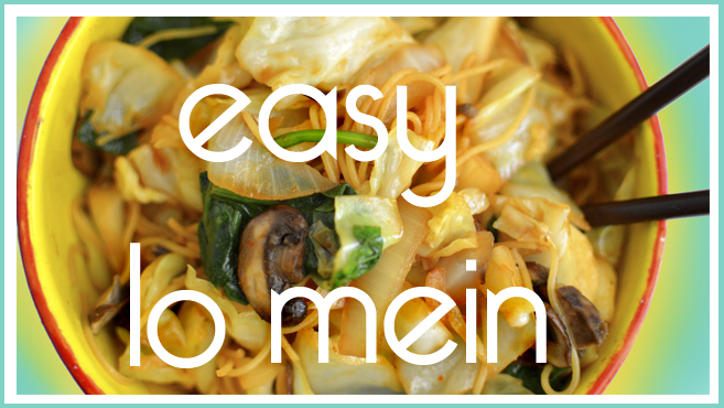 Veggie Lo Mein - Fast, Easy, Vegan - Rich Bitch Cooking