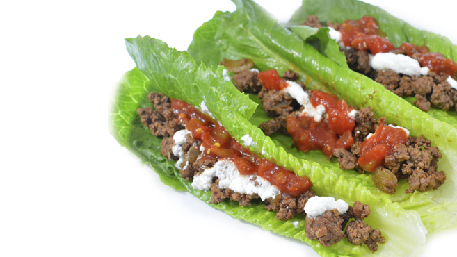Mexican Beef Lettuce Wraps - No Carb - Gluten Free- Paleo Rich Bitch Cooking Blog