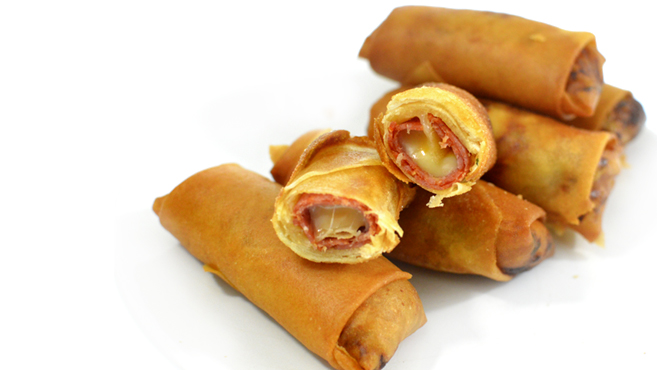 Crispy Pepperoni Cheese Spring Rolls Rich Bitch Cooking Blog
