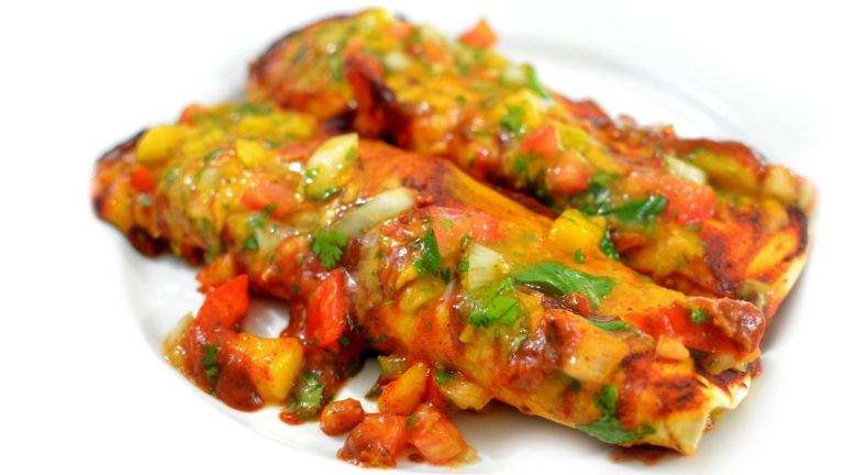 Vegan Cheese Bean Enchiladas - Best Dairy Free Mexican Dinner! Rich Bitch Cooking Blog