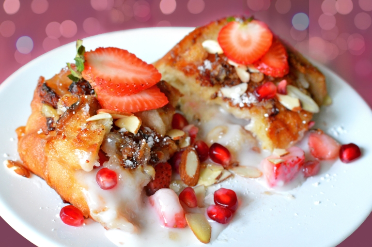 Vegan Stuffed French Toast! - Coconut Cream & Strawberries Rich Bitch Cooking Blog