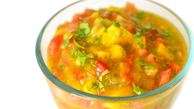 Sweet & Spicy Mango Salsa with Habanero - Fresh! Rich Bitch Cooking Blog