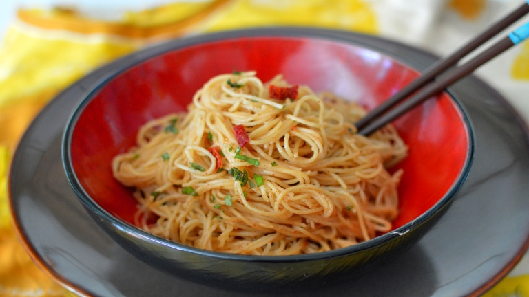 Vegan Thai Peanut Sauce & Noodles - Really it was Almond Butter! Rich Bitch Cooking Blog