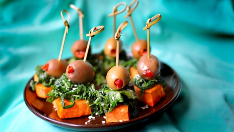 Simple Sweet Potato Appetizer - Paleo & Vegan Rich Bitch Cooking Blog