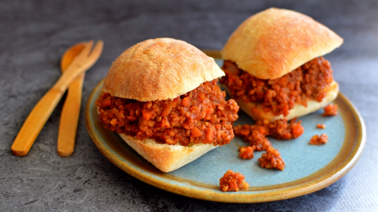 Vegan Sloppy Joes - All Veggies, Little Fat, No Soy - Rich Bitch Cooking Blog