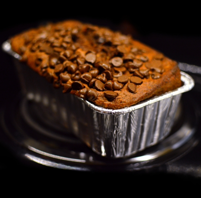 Vegan Chocolate Pudding Banana Bread - Low Fat - Rich Bitch Cooking Blog