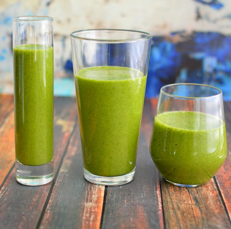Vegan Green Smoothie - Ultra Potassium Rich - Rich Bitch Cooking Blog