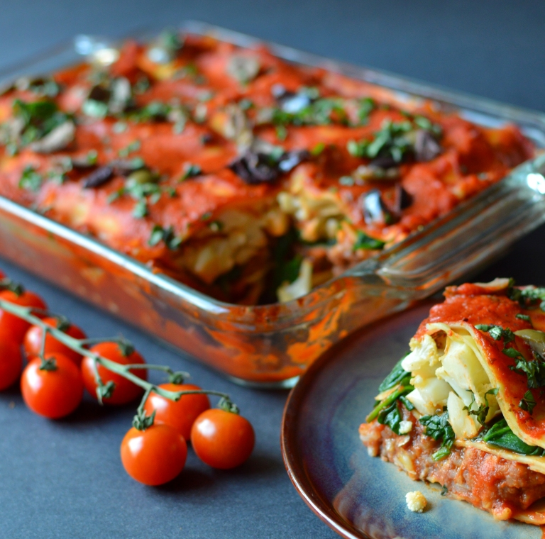 Best Vegan Lasagna - Tons of Veggies!! Rich Bitch Cooking Blog