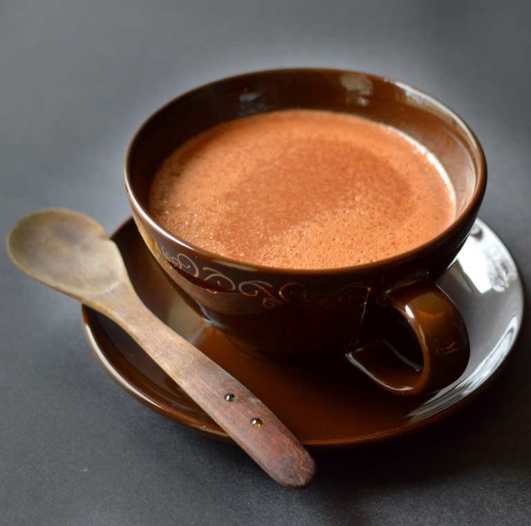 Vegan Drinkable Pudding Hot Chocolate - Low Fat - Rich Bitch Cooking Blog