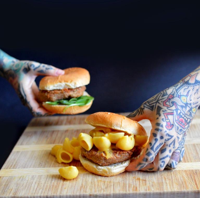 Vegan Mac & Cheeseburger - Low Fat & Soy Free - Rich Bitch Cooking Blog