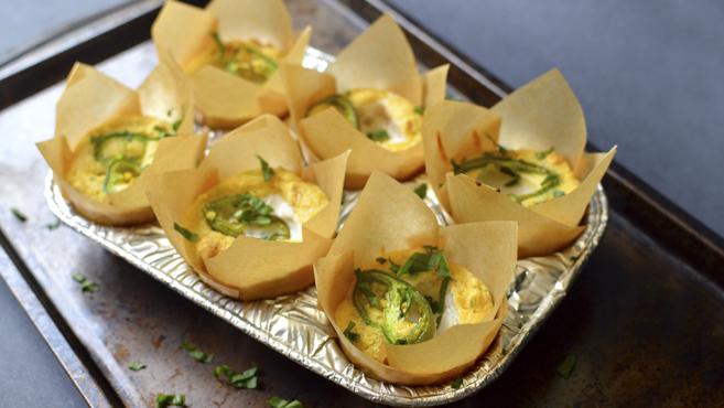 Vegan Jalapeno Cream Cheese Cornbread Muffins - Rich Bitch Cooking Blog