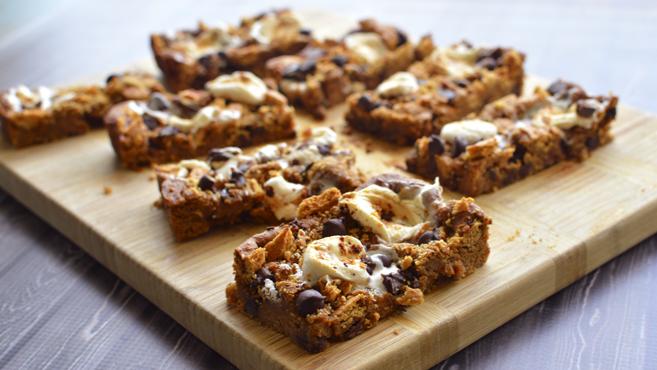 Vegan Smores Blondies + Smores Cookie Dough (Chickpeas!) Rich Bitch Cooking Blog