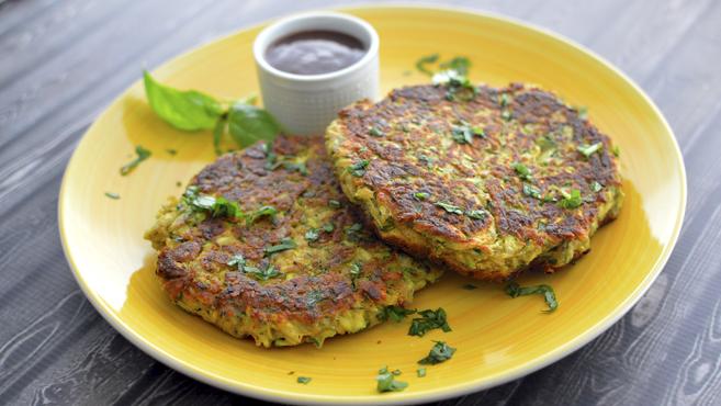 a vegan zucchini pancake chickpea flour thumbnail