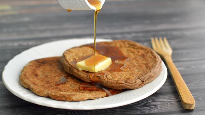 Vegan Protein Pancakes - Four Ingredients & Low Fat - Rich Bitch Cooking Blog