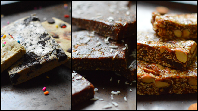 Vegan Bars (Energy, Power & Protein) - No Bake! - Quest Bar, Granola Bar, Lara Bar - Rich Bitch Cooking Blog