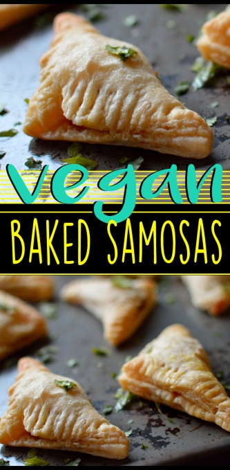 Vegan Baked Samosas - Indian Appetizer - Rich Bitch Cooking Blog