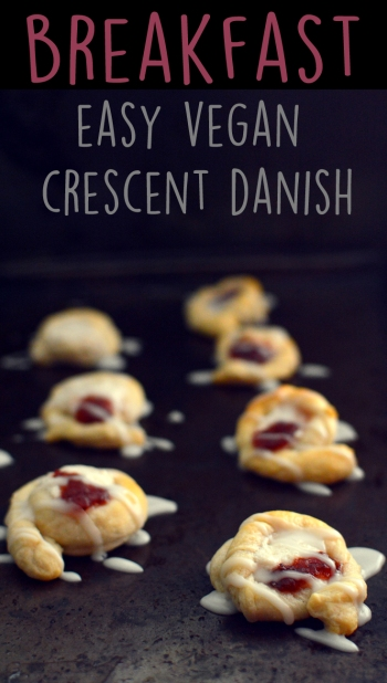3 Vegan Breakfast Ideas - Crescent Roll Cheese Jelly Danish - Rich Bitch Cooking Blog