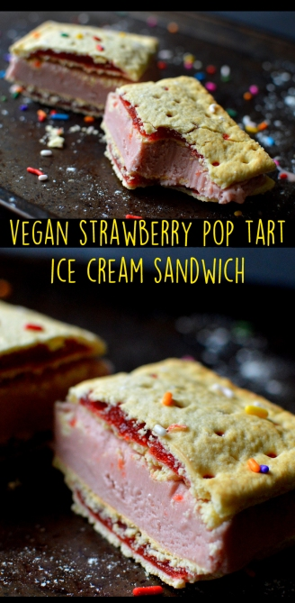 Vegan Strawberry Pop Tart Ice Cream Sandwich - Vegan What I eat In a Day - Junk Food As FUCK