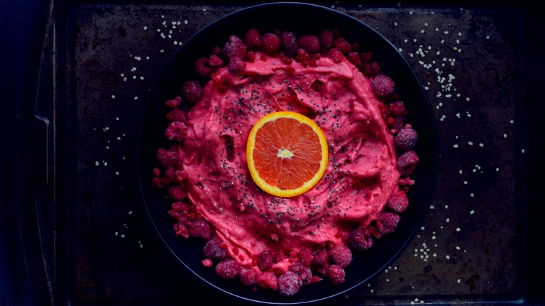 Raspberry Smoothie Bowl Ice Cream - Vegan What I Eat In A Day - Asian Inspired (#7) - Rich Bitch Cooking Blog