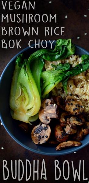 Vegan Brown Rice Bok Choy Buddha Bowl - Vegan What I Eat In A Day - Asian Inspired (#7) - Rich Bitch Cooking Blog