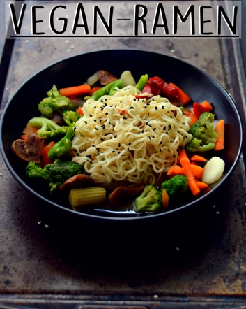 Vegan Ramen Noodle Soup - Vegan What I Eat In A Day - Asian Inspired (#7) - Rich Bitch Cooking Blog
