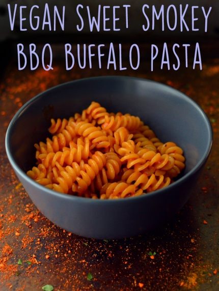 Vegan Sweet Smokey BBQ Buffalo Pasta - 9 Vegan Pasta Dishes - Dinner For One - College Meals - Rich Bitch Cooking Blog