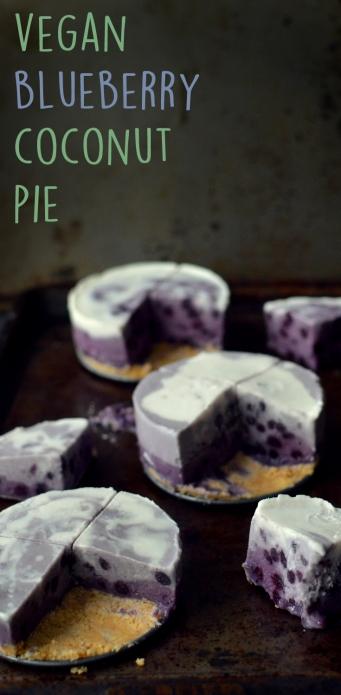 3 Vegan Desserts - Blueberry Coconut Gradient Colorful Purple Pie - Rich Bitch Cooking
