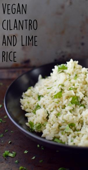 Vegan Cilantro Lime Rice - 11 Vegan Rice Recipes - Rich Bitch Cooking Blog