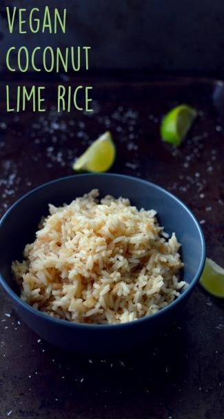 Vegan Coconut Lime Rice - 11 Vegan Rice Recipes - Rich Bitch Cooking Blog