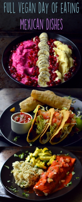 Vegan What I Eat In A Day - Mexican Feast (#6) - Breakfast, Lunch, Dinner - Rich Bitch Cooking Blog
