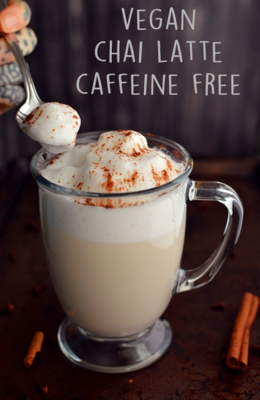 Vegan Chai Almond Milk Latte (Frothed + Caffeine Free) - Vegan What I Eat In A Day - Indian (#9) - Rich Bitch Cooking Blog