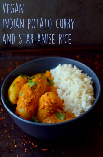 Vegan Indian Potato Curry with Star Anise Rice - Vegan What I Eat In A Day - Indian (#9) - Rich Bitch Cooking Blog