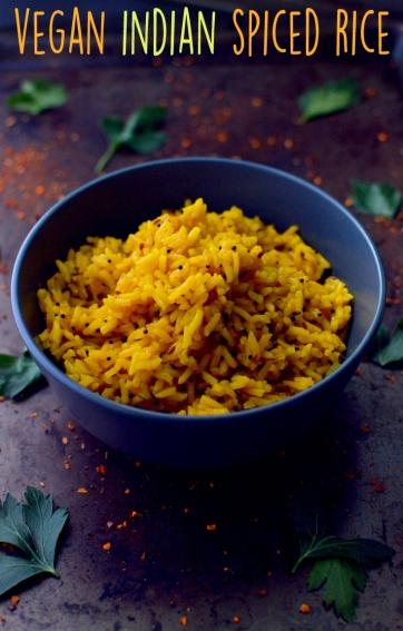 Vegan Indian Spice Rice - 11 Vegan Rice Recipes - Rich Bitch Cooking Blog