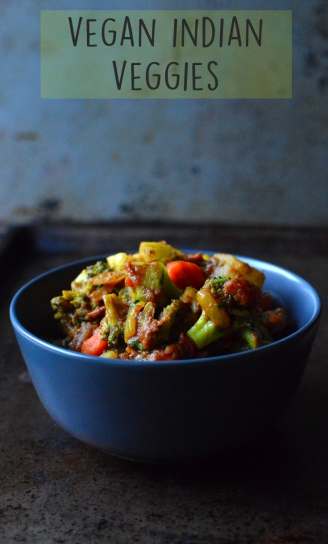 Vegan Indian Veggies with Curry - Vegan What I Eat In A Day - Indian (#9) - Rich Bitch Cooking Blog