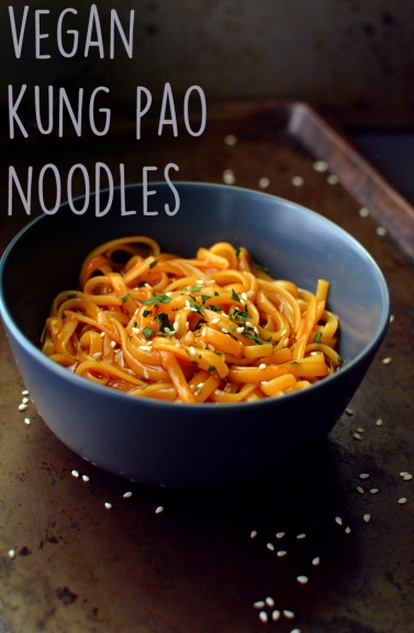 Vegan Kung Pao Pasta - 9 Vegan Pasta Dishes - Dinner For One - College Meals - Rich Bitch Cooking Blog