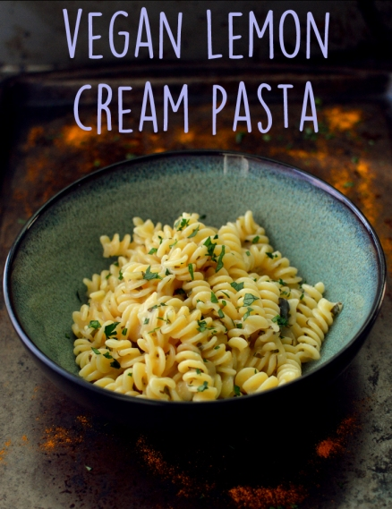 Vegan Lemon Cream Pasta - 9 Vegan Pasta Dishes - Dinner For One - College Meals - Rich Bitch Cooking Blog