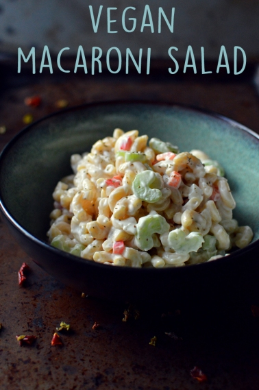 Vegan Macaroni Salad - 9 Vegan Pasta Dishes - Dinner For One - College Meals - Rich Bitch Cooking Blog