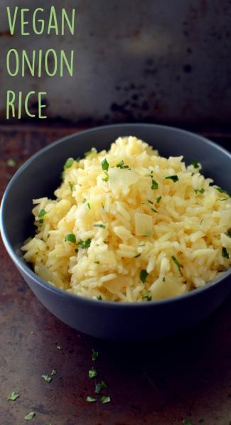Vegan Onion Rice - 11 Vegan Rice Recipes - Rich Bitch Cooking Blog