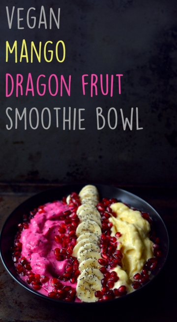 Vegan What I Eat In A Day - Mexican Feast (#6) - Breakfast Dragon Fruit Mango Pink Smoothie Bowl Banana Nice Cream - Rich Bitch Cooking Blog