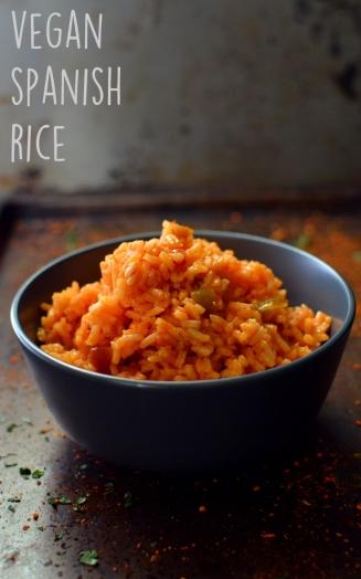 Vegan Spanish Rice - 11 Vegan Rice Recipes - Rich Bitch Cooking Blog
